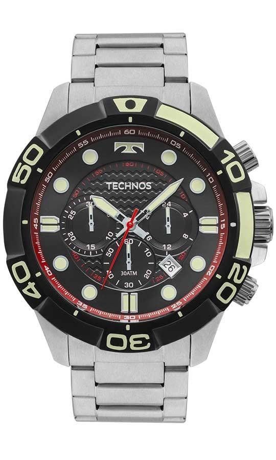 307ff4a14bc Relógio Masculino Technos Cronógrafo Js25bp 0p Prata - R  900