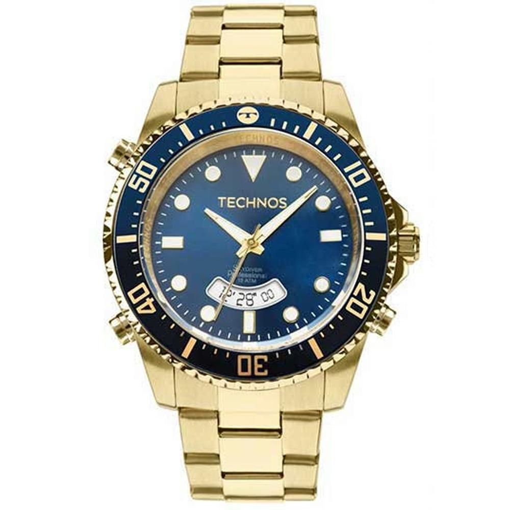 74f74f8767403 Relógio Masculino Technos Skydiver T205jd 4a Dourado - R  549,90 em ...