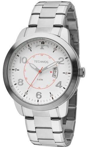 relógio masculino technos aço 2115ktm/1b barato original