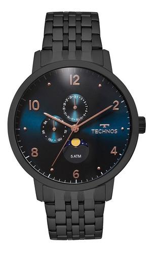 relógio masculino technos analógico golf 6p21aa/4p original