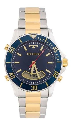 relogio masculino technos chronoalarm skydiver t205jc/5a