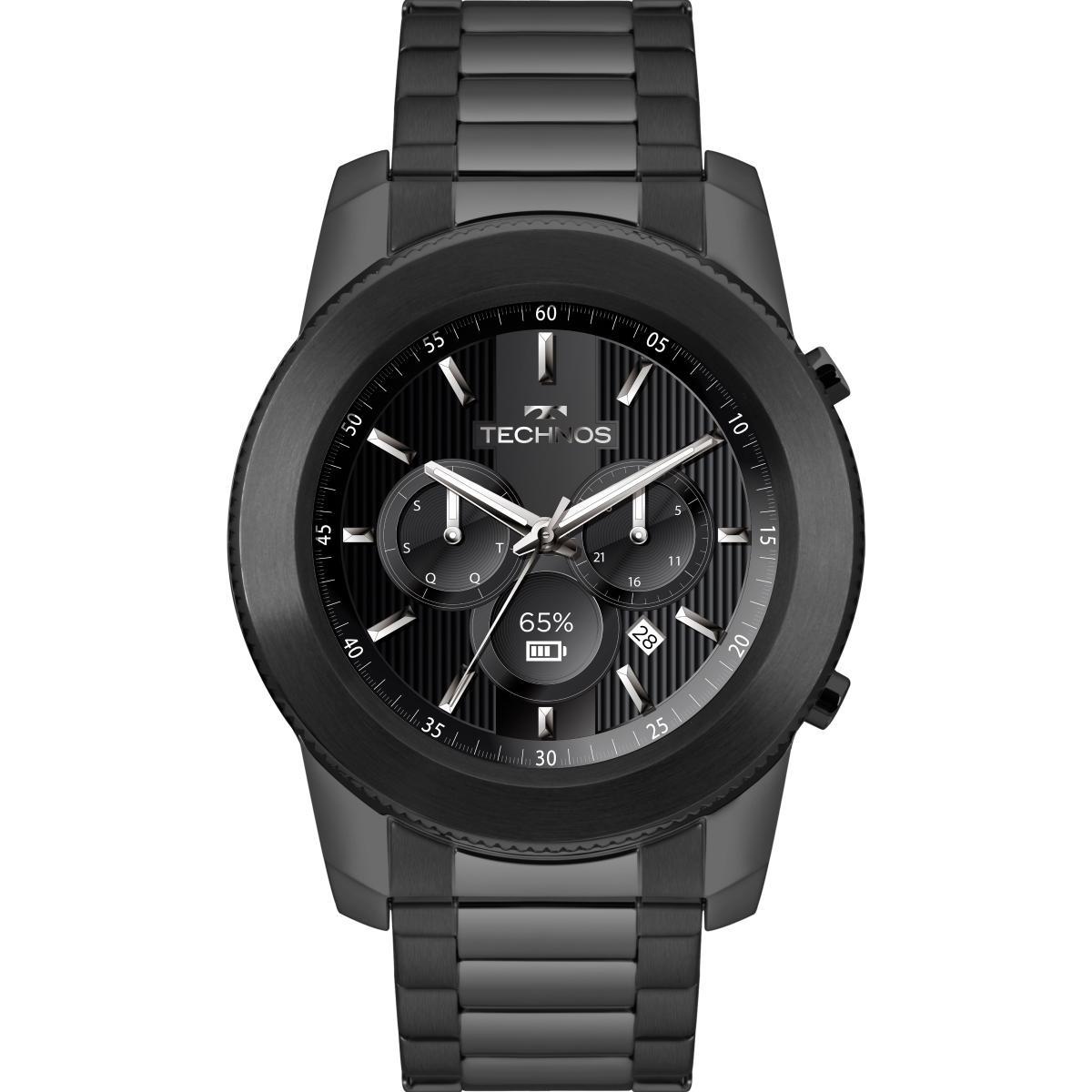 3d6b0abbb52 Relógio Masculino Technos Connect Smartwatch M1ab 4p Preto - R  861 ...