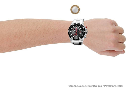 relógio masculino technos cronografo os10er/1a loja autoriz.