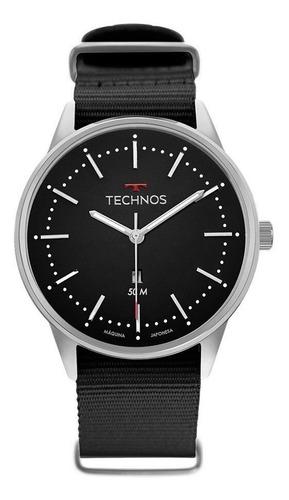 relógio masculino technos esportivo prata 2015cdx/8p com nf