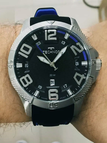 relógio masculino technos original em promoção 2117lcd/8p