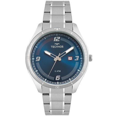 relógio masculino technos prata 2115mpd/1a