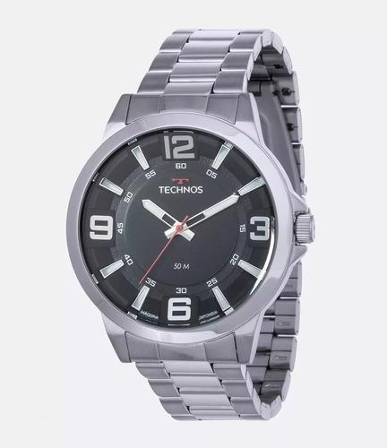 relógio masculino technos prata com garantia e nf 2036mlg/1p