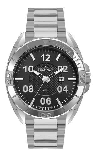 relógio masculino technos2117lbm/1p com garantia de 1 ano