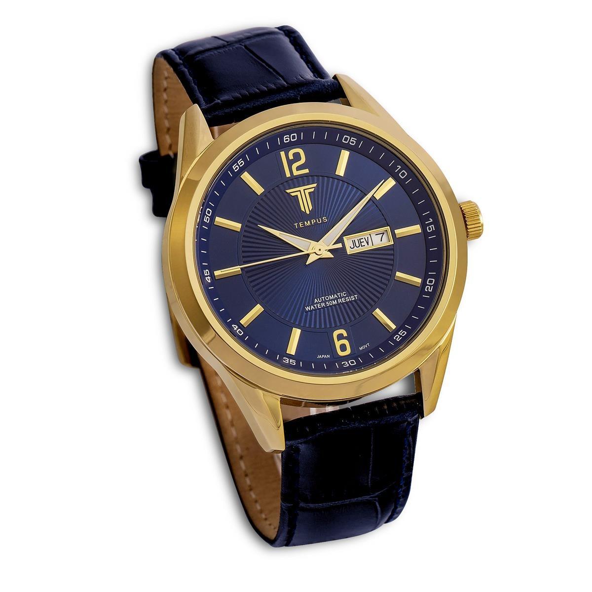 1abed4d80a9 relógio masculino tempus zw20136 gold black. Carregando zoom.