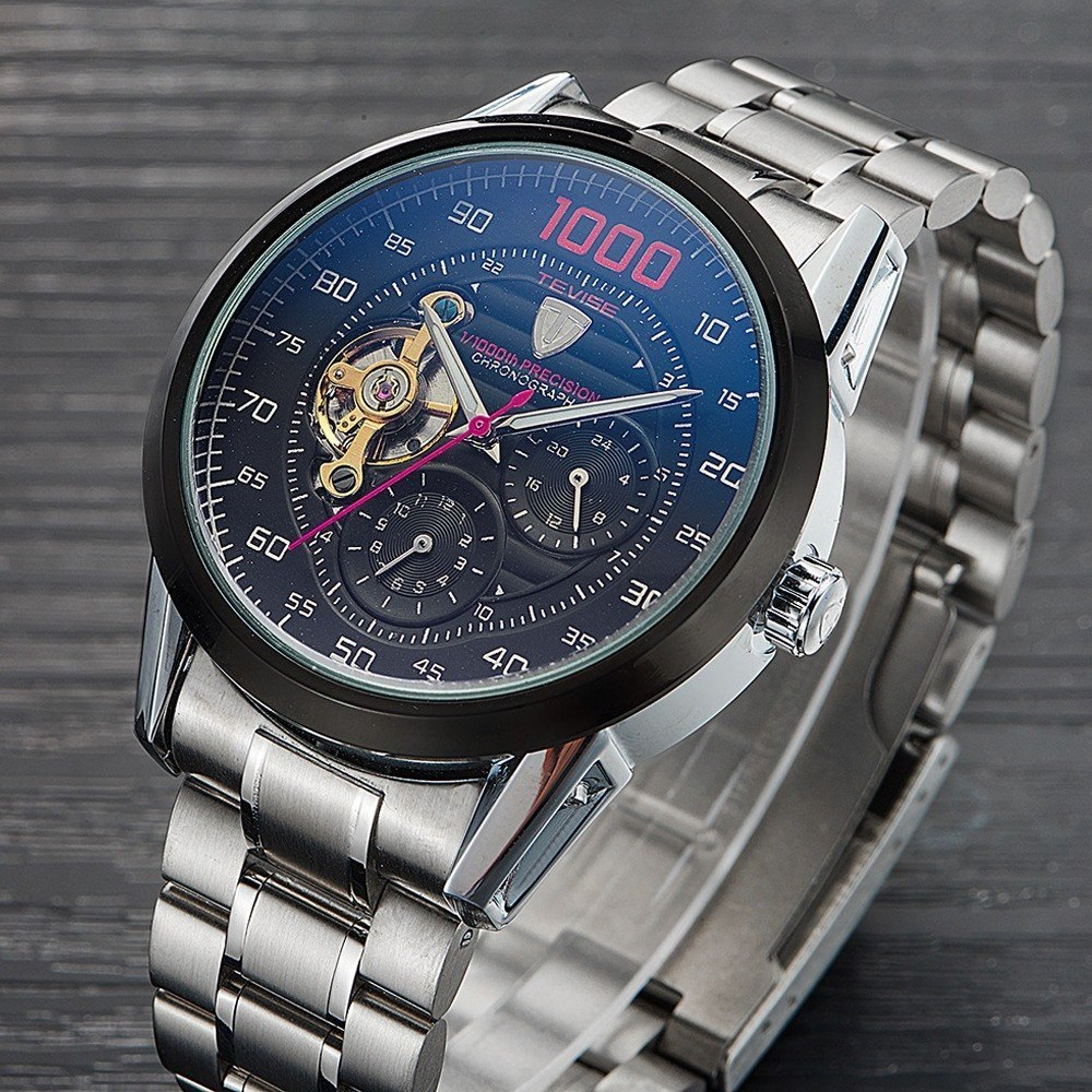 c617c12fb37 relógio masculino tevise 1000 turbilhao automático original. Carregando zoom .