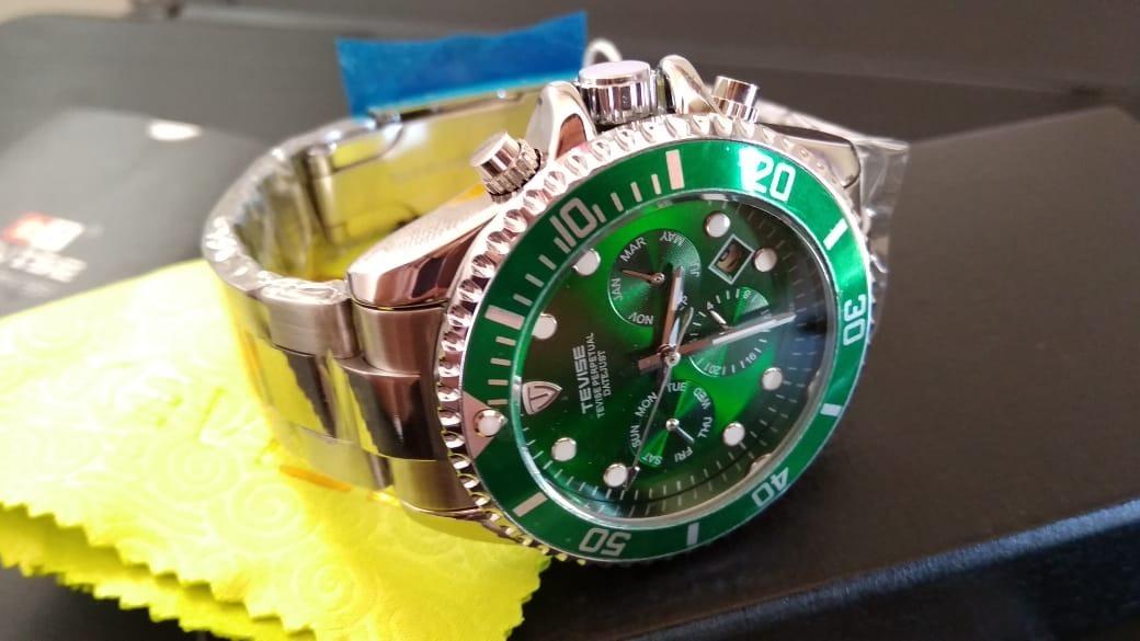 2b4569780d6 relógio masculino tevise automático original pronta entrega. Carregando zoom .