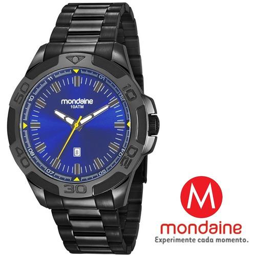 relógio masculino top esportivo mondaine mvp-s2 100 metros
