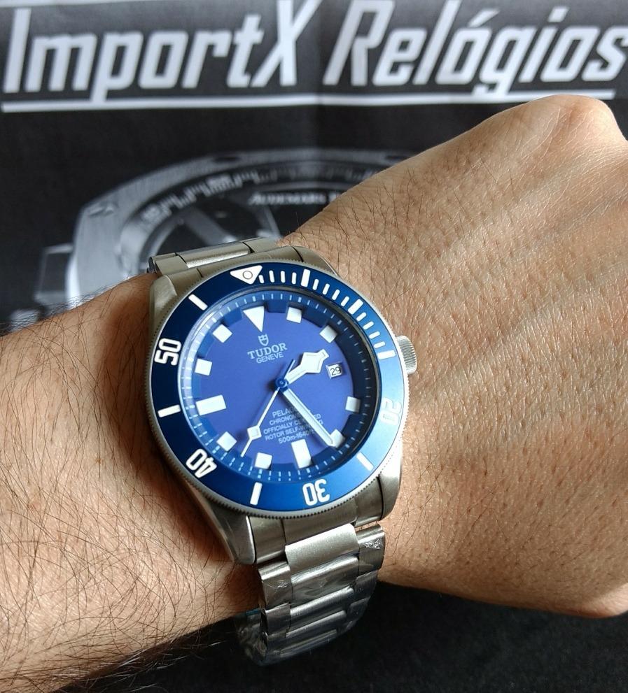 1a49084014f relógio masculino tudor pelagos blue. Carregando zoom.