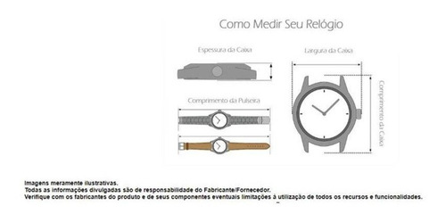 relógio masculino tuguir 5320g preto c/ garantia e nf
