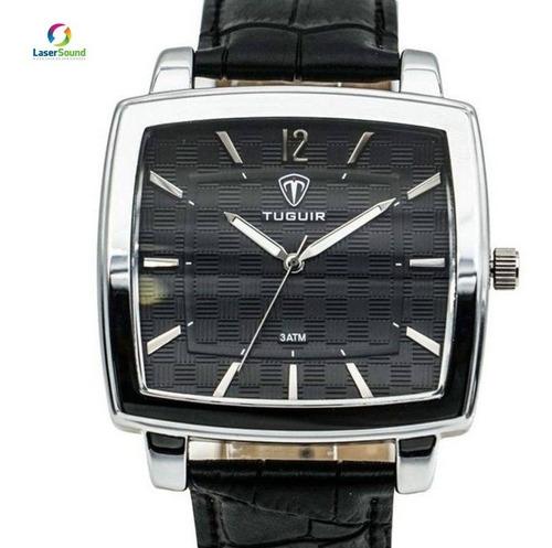 relógio masculino tuguir 5436g prata e preto c/ garantia  nf