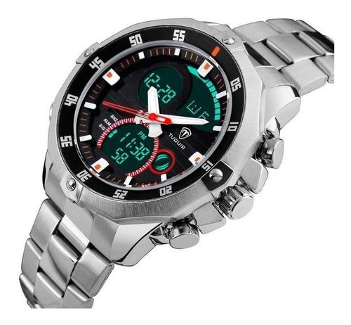 relógio masculino tuguir anadigital prata com nf e garantia