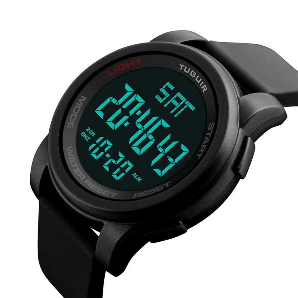 7ca25e9cdb1 relógio masculino tuguir tg1257 digital preto com nf. Carregando zoom.
