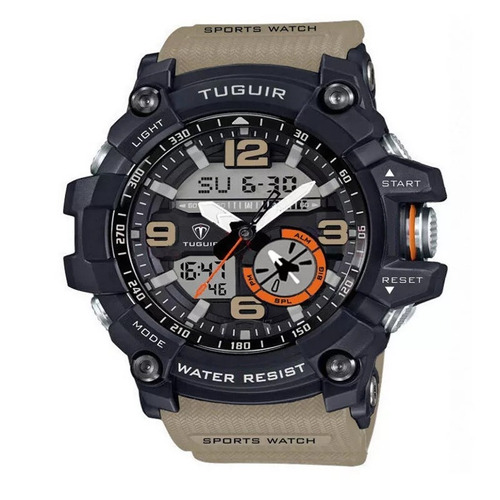 relogio masculino tuguir tg6009 sport watch shock 5atm/50m