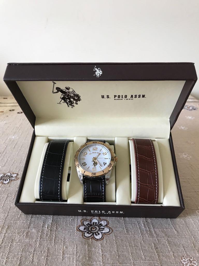 15f54fd7c58 relógio masculino u.s. polo assn importado original + 2 puls. Carregando  zoom.