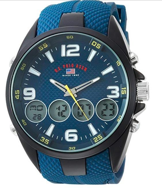 1756d8180144e Relógio Masculino Us Polo Assn Modelo Us9598 Azul - R  309
