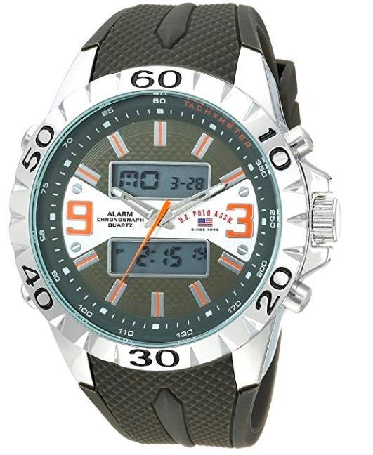 0ad786ee535d4 Relógio Masculino Us Polo Assn Modelo Us9628 Verde E Prata - R  379 ...