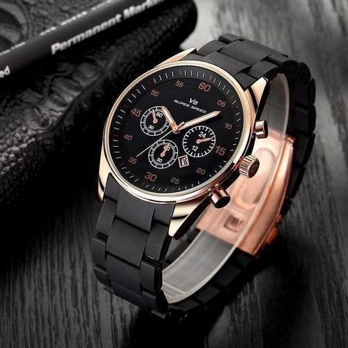 relógio masculino v8 prova d'agua com garantia top
