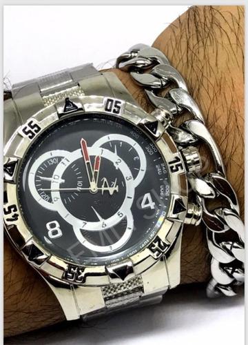 relógio masculino varios modelos + caixa+ brinde pulseira