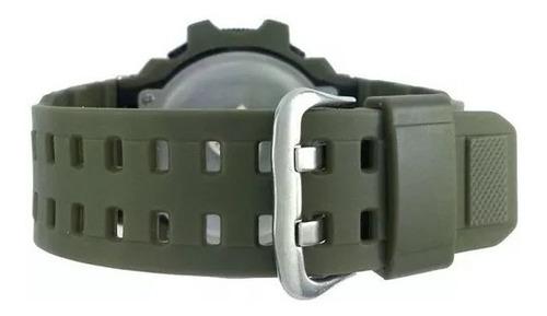 relógio masculino verde militar skmei original prova d'água