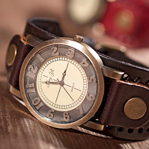 relógio masculino vintage pulseira couro moda casio garantia