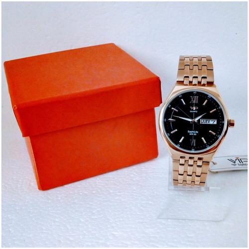 relógio masculino vip quartz mh6360 original luxo 12x s/j