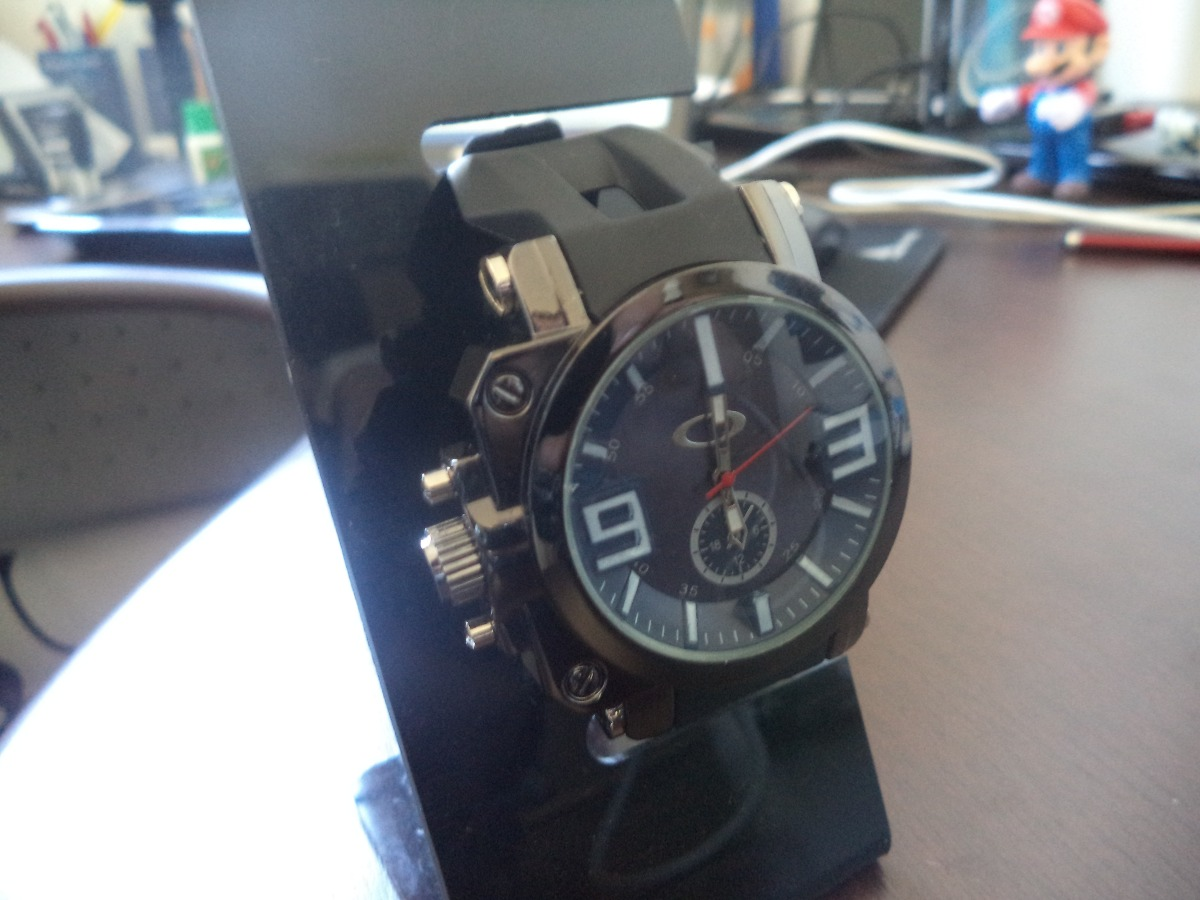 53962d5ed73 relógio masculino visor azul resistente de safira. Carregando zoom.