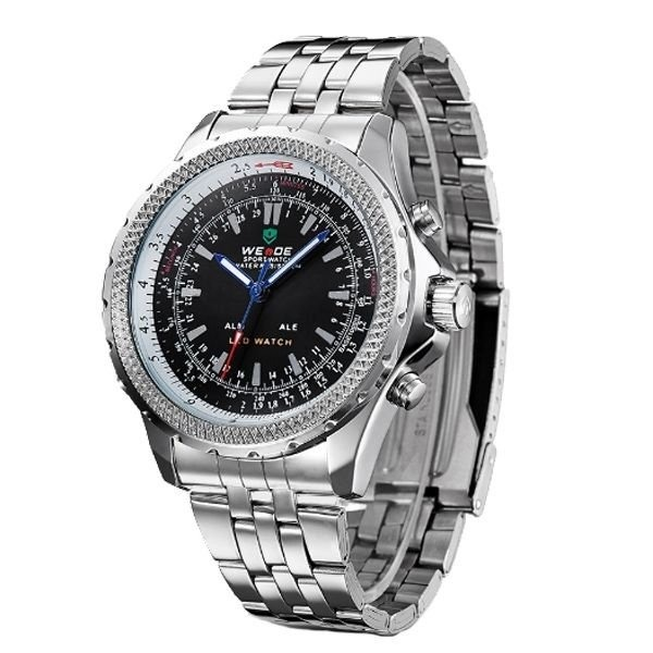 Relógio Masculino Weide Anadigi Wh-904 Pt - R  109 a4f0b629ae3e3