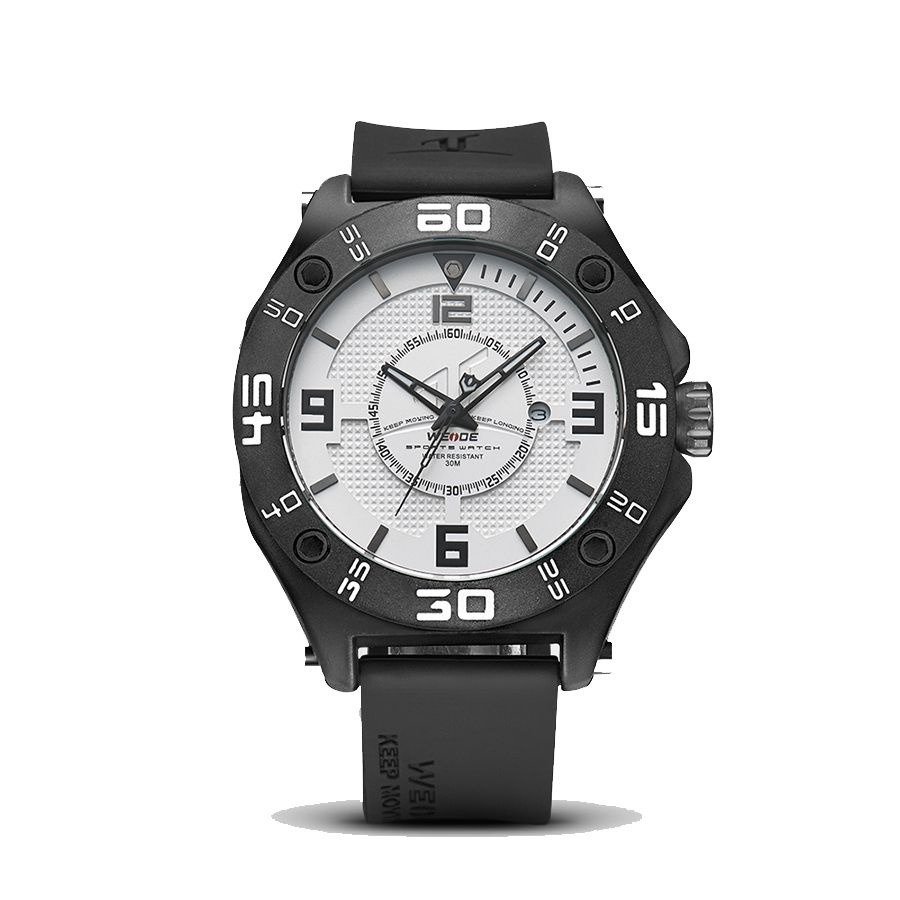 relógio masculino weide analógico uv-1502 preto e branco. Carregando zoom. 0b734ced89447