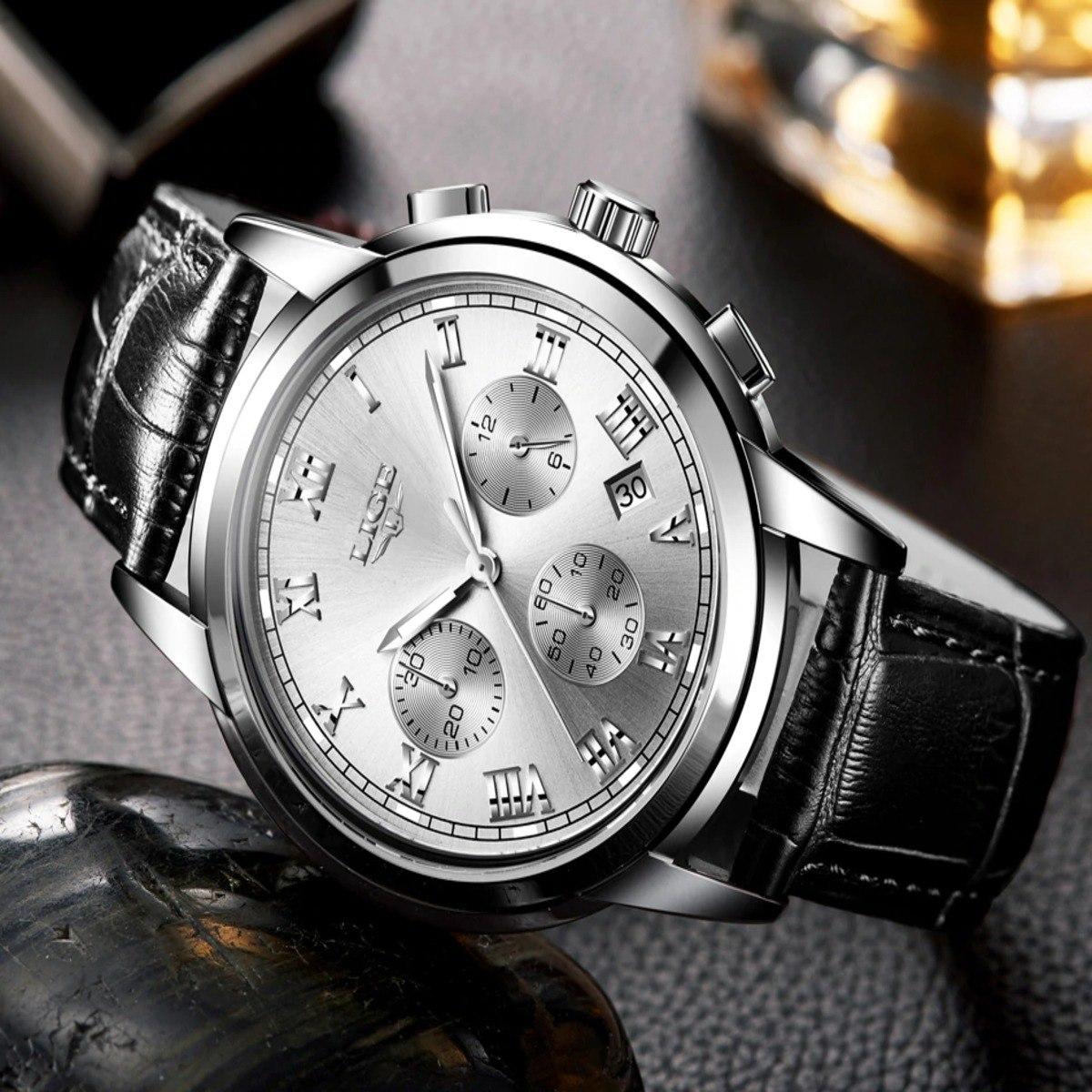 2d23fdf9ad8 relogio masculino wishdoit pulseira de couro discreto lindo. Carregando zoom .