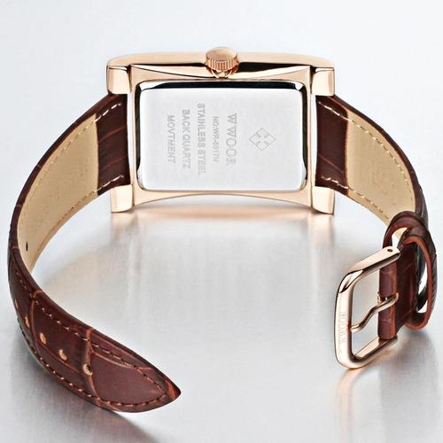 relógio masculino wwoor couro original