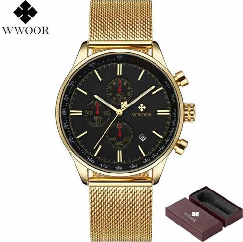 relógio masculino wwoor watch original luxo