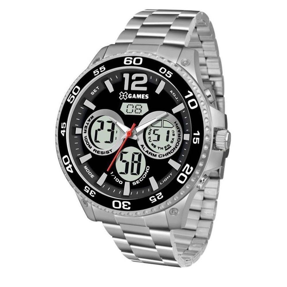ceda276217a Relógio Masculino X-games Anadigi Xmssa006 P2sx - Prata - R  299