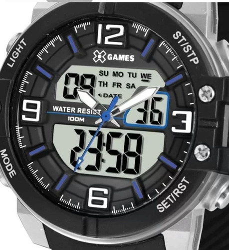 relógio masculino x-games xmppa226 anadig multi função