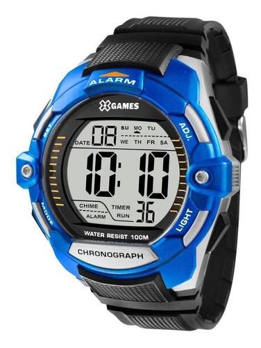 relógio masculino x-games xmppd433 bxpx - prata/azul
