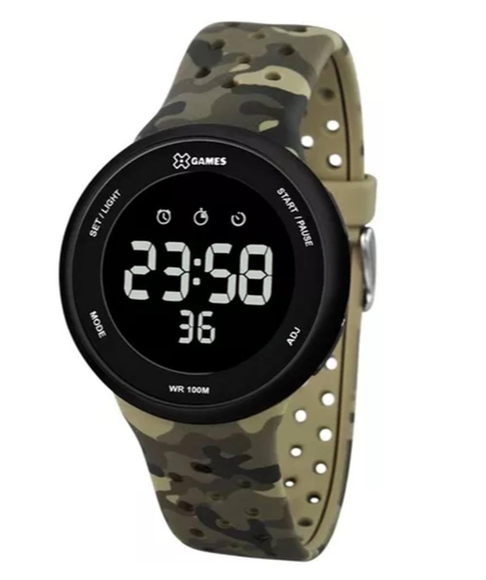 c85db6c49b9 Relógio Masculino X-games Xmppd486 Militar Digital Camuflado - R  189
