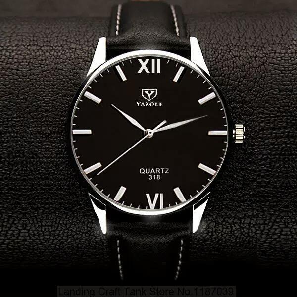 4e410497ee4 Relógio Masculino Yazole 318 Quartz De Couro +caixinha - R  35