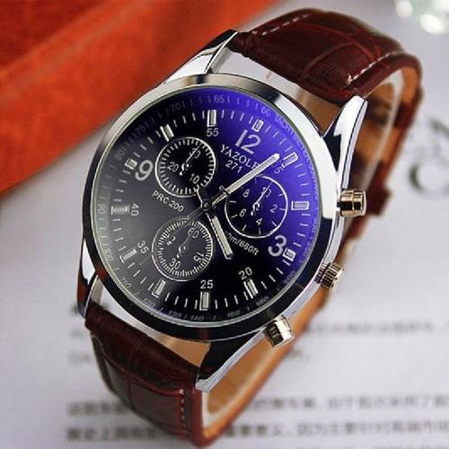 a491942739c Relógio Masculino Yazole Japonês Importado Em Couro Barato - R  44 ...