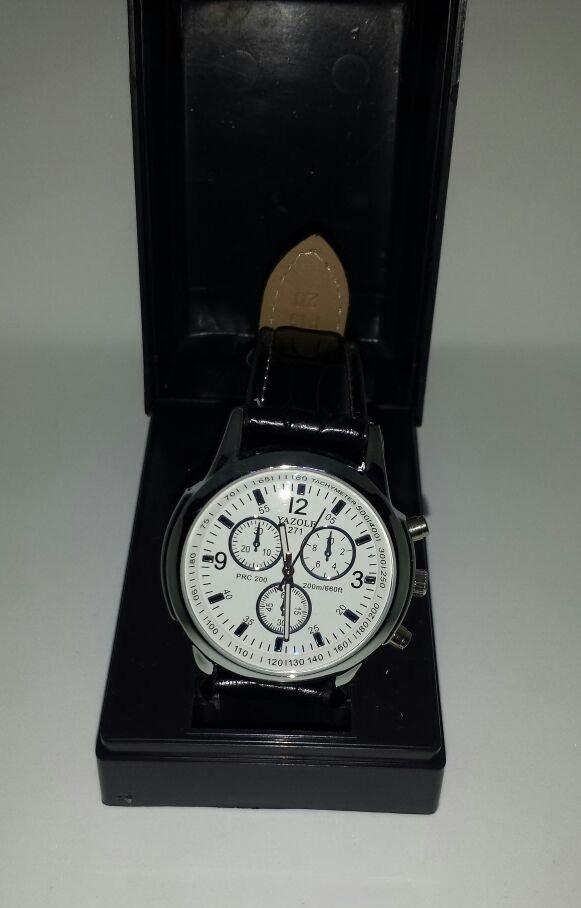 91d32697ba6 relógio masculino yazole japonês importado em couro barato. Carregando zoom.
