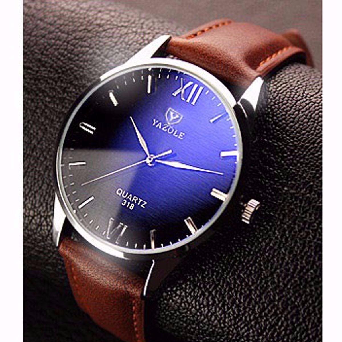 6c8e1325fa1 relógio masculino yazole luxo - marrom - cod 318. Carregando zoom.