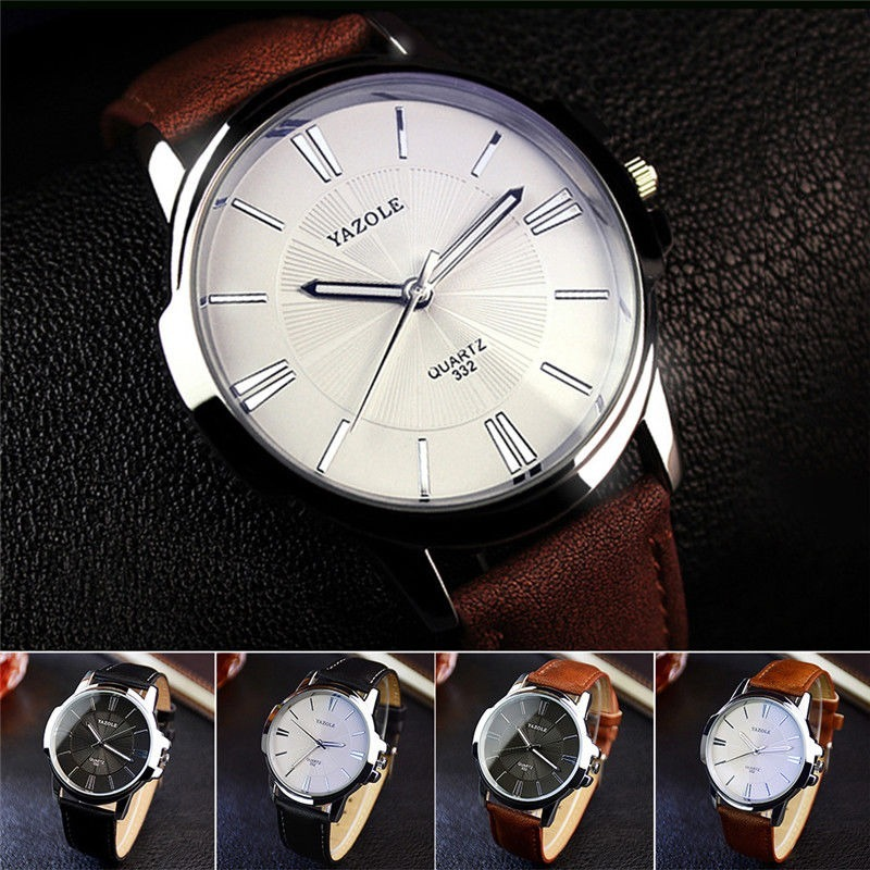 5651644b218 relógio masculino yazole quartzo romano todos barato pulso. Carregando zoom.