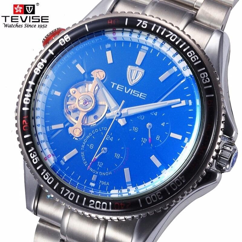 062d6956486 relógio masculinos analógico automático tevise. Carregando zoom.