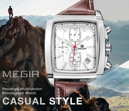 relógio megir 2028 original clássico retrô elegante social