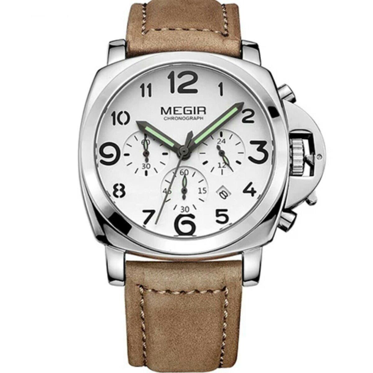 011730e4746 relógio megir 3406 masculino luxo pulseira couro envio grats. Carregando  zoom.