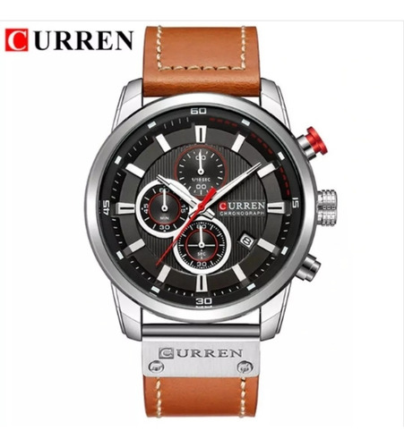 relógio men 100% funcional, prova d agua-curren 8291