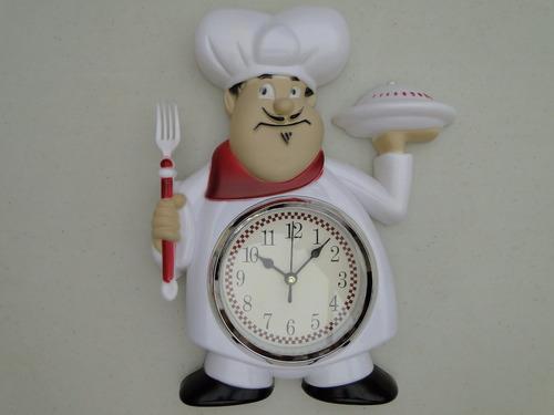 relogio mestre cuca silencioso talher cozinha garfo 30cm